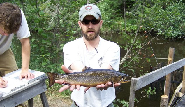 Moosehead lake wild brook trout study maine guide fly for Trout fishing near me